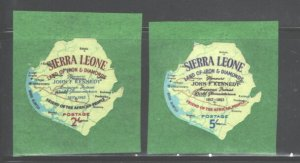 SIERRA LEONE 1964 #264 - 270 & #C21 - C27 MNH