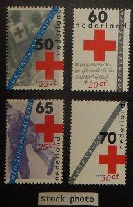 Netherlands B589-92. 1983 Red Cross, NH