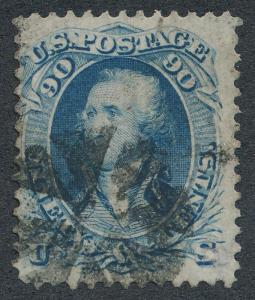 UNITED STATES 72 USED, FINE 90c BLUE WASHINGTON