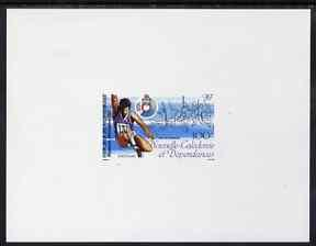 New Caledonia 1987 South Pacific Games 100f Long Jump imp...