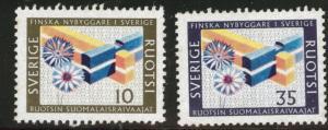SWEDEN Scott 731-732 MH* 1967 settler set