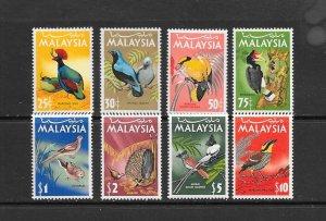 BIRDS - MALAYSIA #20-27 MNH