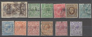 COLLECTION LOT # 4254 GREAT BRITAIN 12 STAMPS 1911+ CV+$52