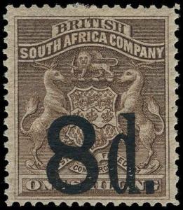 Rhodesia Scott 20-23 Gibbons 14-17 Mint Set of Stamps