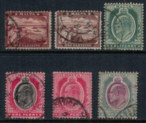 Malta #28-33  CV $6.35