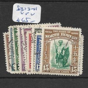 NORTH BORNEO  (P2705B)  SG 303-311   VFU