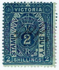 (I.B) Australia - Victoria Revenue : Stamp Duty 2/-