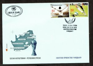 2010  BOSNIA - SG: S502 / S503 - FOOTBALL WORLD CUP,  S.AFRICA  -  FDC