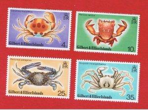Gilbert & Ellice Islands #237-240 MNH OG   Crabs  Free S/H