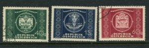 Austria #565-7 Mint/Used
