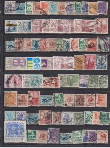 LOT OF DIFFERENT STAMPS OF MEXICO USED (74) LOT#110