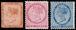 Prince Edward Island Scott 4a-6 (1862-65) Mint/Used H G-F, CV $59.50 B