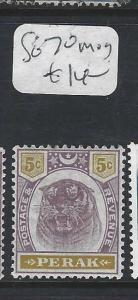 MALAYA PERAK  (P0502B) TIGER 5C  SG 70     MOG