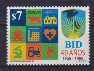 Uruguay 1999 The 40th Anniversary of the Inter-American Development Bank  (MNH)