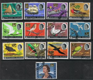 PITCAIRN ISLANDS 1967 STAMPS OF 1964 SURCHARGED IN GOLD