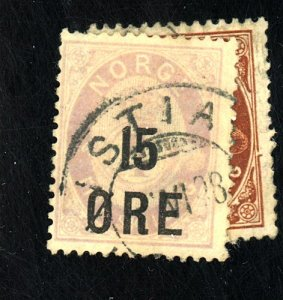 NORWAY #62-3 USED FVF HR CAT $21