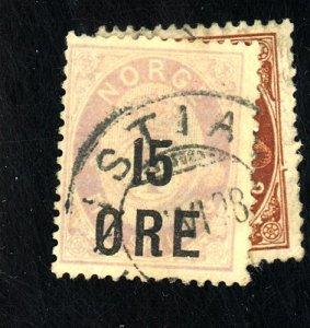 NORWAY #62-3 USED FVF HR CAT $21