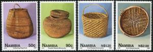 Namibia MNH 830-3 Handmade Baskets 1997