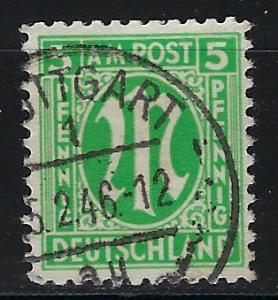 Germany AM Post Scott # 3N4a, used