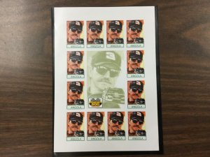 ANGOLA Dale Earnhardt 1998 15 KZ Imperf & Perf sheets of 12 MNH stamps