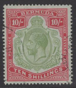 BERMUDA SG54 1918 1/= GREEN & CARMINE/PALE BLUISH GREEN FINE USED