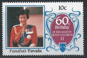 Tuvalu-Funafuti #52 10c Queen Elizabeth - Trooping The Colors