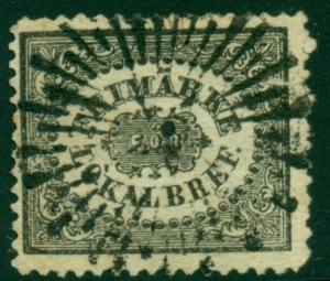 1856 SWEDEN #LX1 LOCAL STAMP W/STARBURST CANCEL, SCARCE, SCOTT $550.00