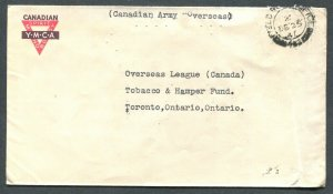 CANADA WWII MILITARY COVER FIELD POST OFFICE CANCEL DATED - CHRISTMAS