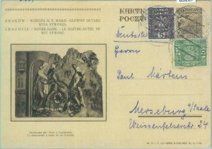 85267 - POLAND - POSTAL HISTORY -  STATIONERY CARD  1934 - Religion ART
