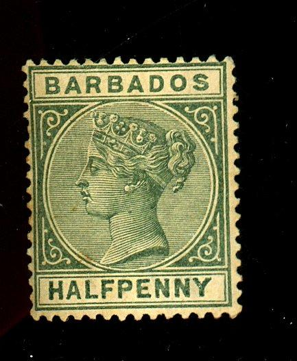 Barbados #60 MINT F-VF No gum Cat $23