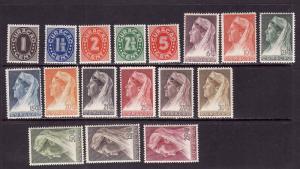 Netherlands Antilles-Sc.#127-43-Unused hinged set-Queen Wilhelmina