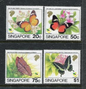 Singapore 660-663, MNH, Insects  Batterflies 1993. x28314