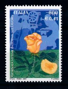 [69904] Italy Italia 2001 Flora Flowers Blumen Rose  MNH