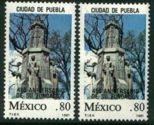 MEXICO 1230-1230a, 450th Anniv of the Founding of Puebla MNH