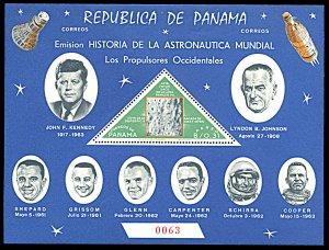 Panama 459Gh, MNH, J.F. Kennedy and Space Travel souvenir sheet
