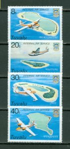 TUVALU AVIATION #118-121...SET...MNH...$1.25