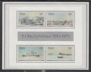 South West Africa 383a Paintings Souvenir Sheet MNH VF