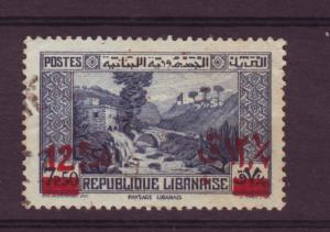 J10521 JL stamps 1937-42 lebanon used #150 ovpt