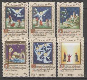 ST.VINCENT SG544/9 1977 CHRISTMAS MNH