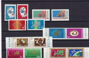 ROMANIA  1969 - 1974  UNMOUNTED MINT STAMPS SETS . REF R683