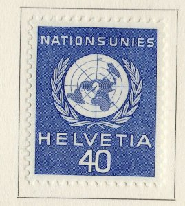 Switzerland Helvetia 1955 Early Issue Fine Mint Hinged 40c. NW-170829