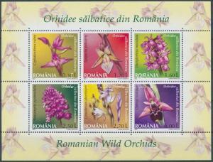 Romania stamp Wild orchids minisheet MNH 2007 Mi 6174-6179 A WS150394