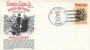1982 Horatio Alger Jr - Author (Scott 2010) Gamm FDC