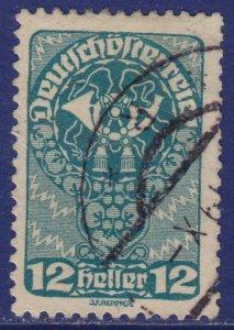 Austria - 1919 - Scott #206 - used - Post Horn