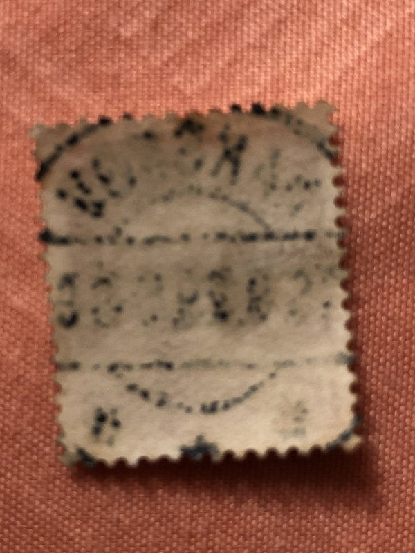 15ore deep red  used Danmark postage Stamp