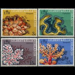 GILBERT & ELLICE IS. 1972 - 199-202 Corals Set of 4 NH