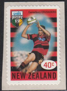 New Zealand 1999 MNH Sc 1593 40c Canterbury Crusaders Rugby