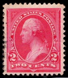 US Stamp #250 2c Carmine Washington USED SCV $3.00 Type I