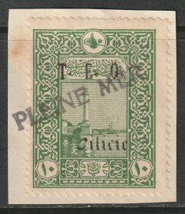 Cilicia 1919 Sc 80 used Pleine Mer ship cancel