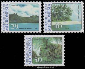 Micronesia Scott 187-189 Mint never hinged.